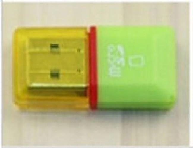 Картридер microSD MRM-POWER желто-зеленый