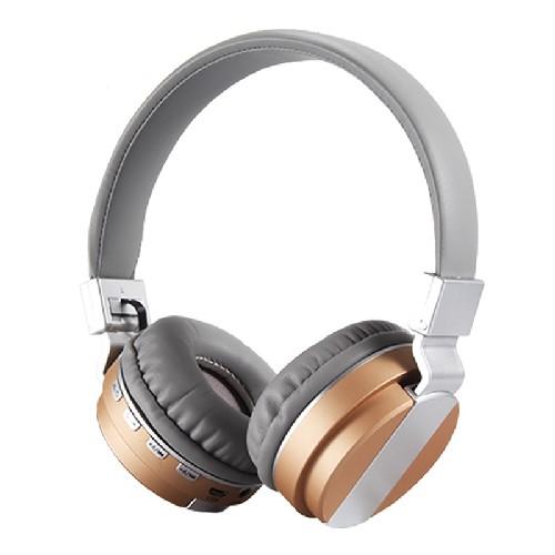 Гарнитура FE-018 Bluetooth беспроводная MP3/iPod джек 3.5 серо-золотая