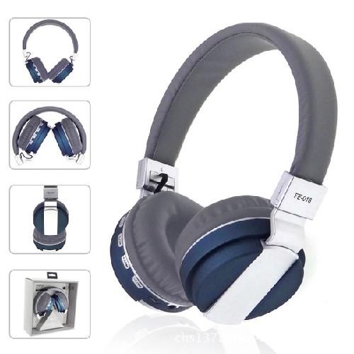Гарнитура FE-018 Bluetooth беспроводная MP3/iPod джек 3.5 серо-синяя