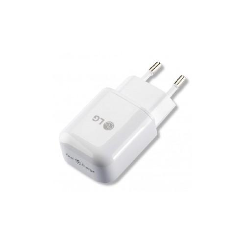 Адаптер сеть-USB LG MCS-H05ER/D 5V 1,8A быстрый заряд белый (тех/упаковка)