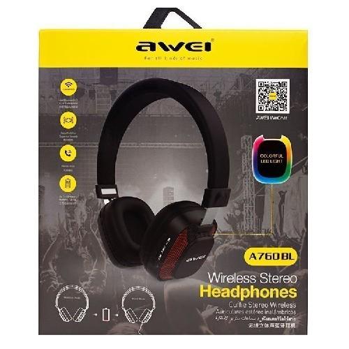 Гарнитура AWEI A760BL Bluetooth черная