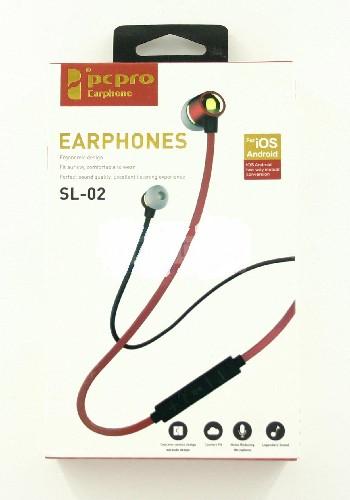 Гарнитура PCPRO SL-02 MP3/iPod джек 3.5 стерео черный (коробка)