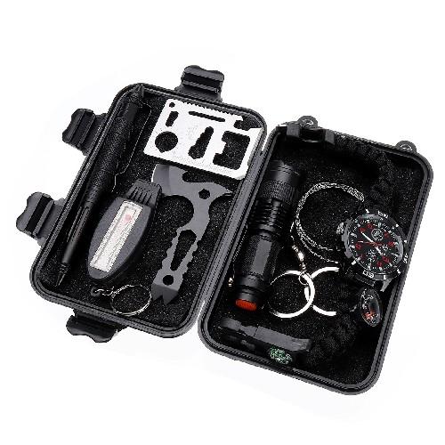 Набор выживания SOS-3 фонарик + компас + набор инструментов + браслет + ручка