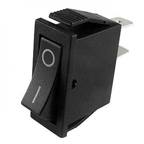 Переключатель электрический клавишный RS-101-1C on-off черный