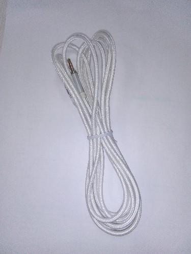 """Шнур 3.5мм """"шт"""" стерео - 3.5мм """"шт"""" стерео  3м тканевый белый  (тех/упаковка)"""