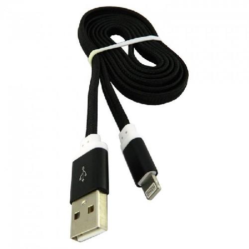 USB-кабель для iPHONE 5 тканевый плоский