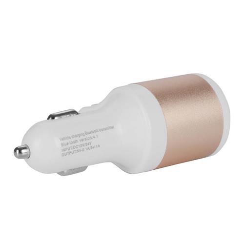 Адаптер авто-USB NOKOKO 5V 2.1A бело-золотой (тех/упаковка)