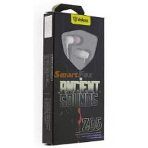 Гарнитура INKAX Z05 для MP3/iPod джек 3,5 стерео белый