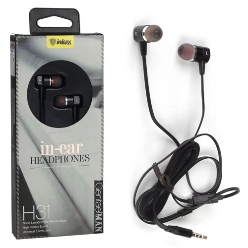 Гарнитура INKAX H31 для MP3/iPod джек 3,5 стерео белый