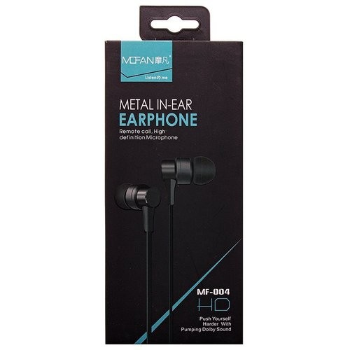 Гарнитура MOFAN MF-004 MP3/iPod джек 3.5 стерео + микрофон черная