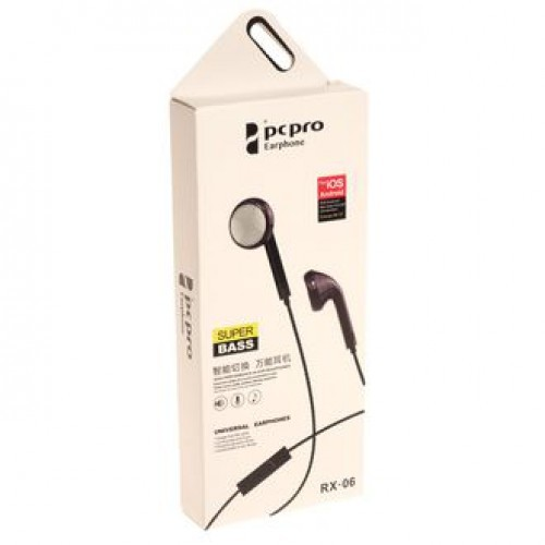 Гарнитура PCPRO RX-06 MP3/iPod джек 3.5 стерео черный (коробка)