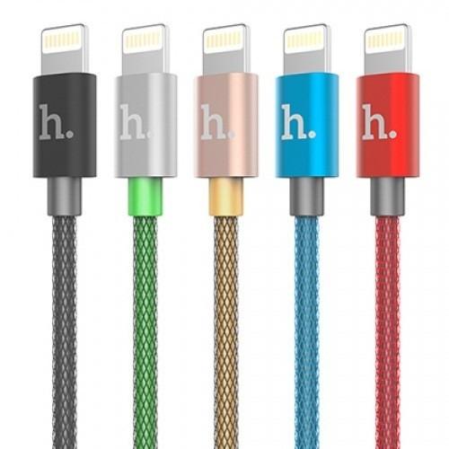 USB-кабель для iPhone 5 тканевый X02 с пластиком